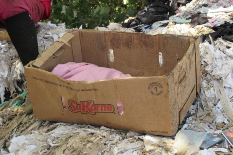 Masaya, bebé encontrado en un basurero