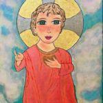 Madonna, pintura de Efrén Medina/LA PRENSA/Cortesía