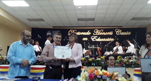 El homenaje a Otto de la Rocha y otros artistas nacionales, en la UNAN-Managua. LA PRENSA/L. ALVAREZ.