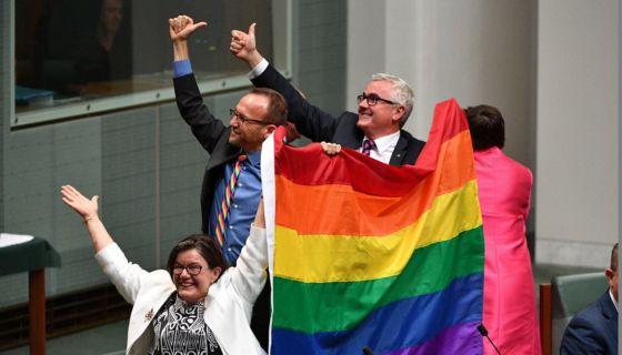 Australia, matrimonio homosexual, bosas homosexuales, matrimonio entre personas del mismo sexo