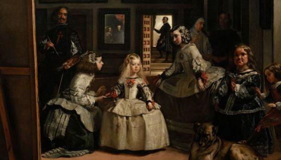 Velázquez pintó a la infanta Margarita rodeada de sus sirvientas.