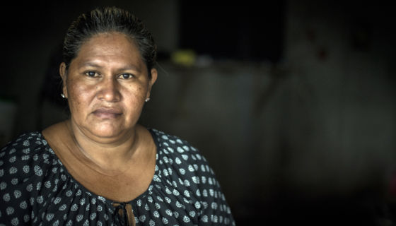 Francisca Ramírez, la lideresa de la lucha anticanal de los campesinos. LA PRENSA / Óscar Navarrete.