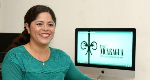 Heydi Salazar, directora de 180 Grados Nicaragua Festival Cultural, anuncia una muestra de cine en siete municipios del país.LA PRENSA/YADER FLORES