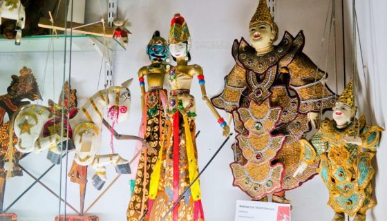 Esta muestra de marionetas tradicionales birmanas forma parte de las valiosas colecciones del Museo Argentino del Títere de Argentina. LA PRENSA/EFE/Cristina Terceiro