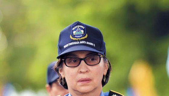 La primera comisionada Aminta Granera solo aparece en actos protocolarios. La cara visible es Francisco Díaz, subdirector de la Policía y consuegro de Daniel Ortega. LA PRENSA/ARCHIVO
