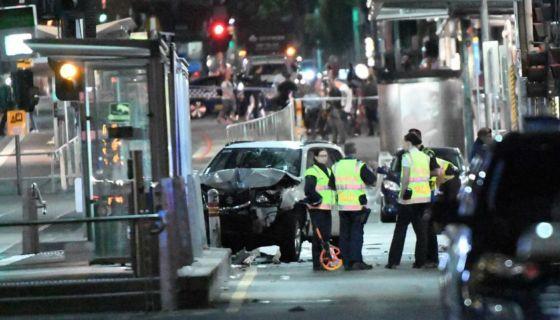 Melbourne, Australia, atropello masivo