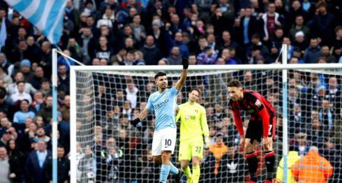 Mánchester City, Liga Premier, Sergio Agüero