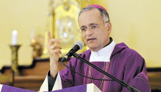 Monseñor Silvio Báez, obispo auxiliar de la Arquidiócesis de Managua. LA PRENSA/ J. FLORES