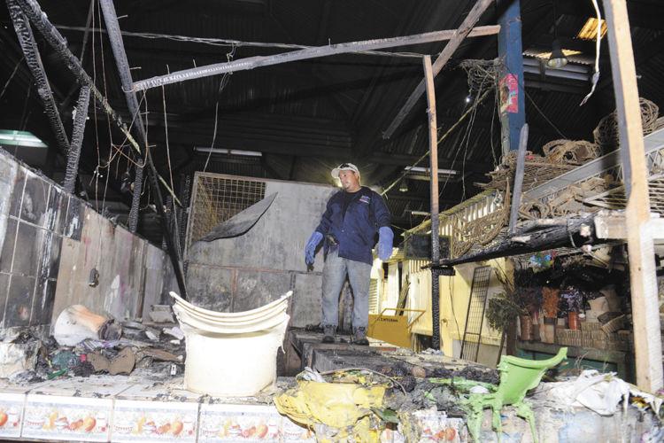Incendio en el Roberto Huembes