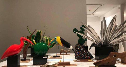 Estas esculturas del poeta y sacerdote Ernesto Cardenal forman parte de la exposición colectiva Sueño de Solentiname, y se exhiben en la galería 80WSE (80 Washington Square East Gallery). LAPRENSA/Cortesía/Marcos Agudelo