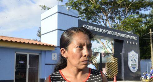 Elea Valle, madre de dos niños que murieron en la masacre de La Cruz de Río Grande, cometida por el Ejército de Nicaragua. LA PRENSA/ ARCHIVO
