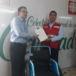 Cáritas de Nicaragua dona sillas de rueda a la Cruz Roja