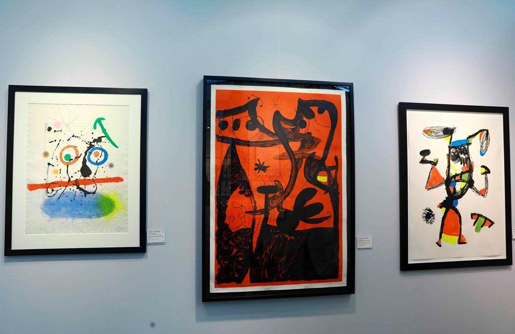 Vista de varias obras del artista español Joan Miró. LAPRENSA/EFE/ Neil Hall