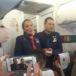 Francisco casa históricamente a dos personas en el avión papal durante vuelo en Chile