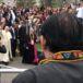 El momento en que Carlos Mejía Godoy le cantó al papa Francisco en Perú