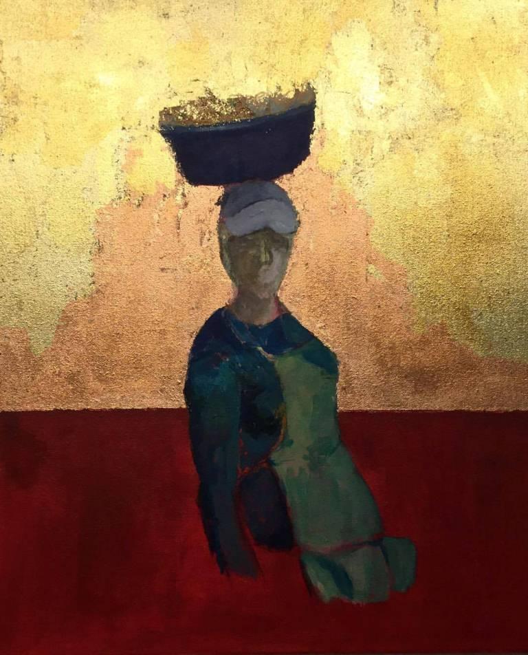 La Vendedora, pintura de de Ana Barahona. LA PRENSA/Cortesía
