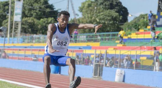 Freddy Siu fue el primer nicaragüense en ganar medalla de oro en los Juegos Paracentromericanos de Managua 2018, en salto de longitud. LA PRENSA/URIEL MOLINA