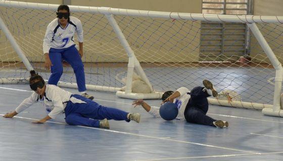 El equipo nicaragüense femenino de golbol se impuso frente a Honduras en su primer duelo de los Juegos Paracentroamericanos. LA PRENSA/MANUEL ESQUIVEL