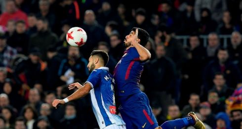 Barcelona superó al Espanyol en los cuartos de final de la Copa del Rey. LA PRENSA/AFP/LLUIS GENE