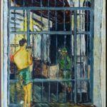 El libro viene ilustrado con pinturas que Pedro Joaquín Chamorro realizó durante estuvo preso. En estas obras retrata escenas de la cárcel en 1955.LA PRENSA/Cortesía/Familia Chamorro