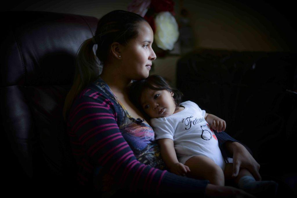 Fue hasta el momento del parto que Marianela Caldera se enteró que su bebé había nacido con microcefalia. LA PRENSA/ ÓSCAR NAVARRETE
