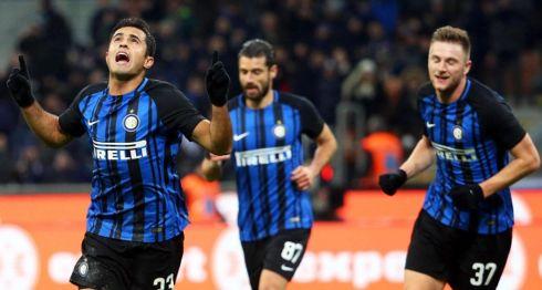 Eder anotó el gol del Inter de Milan, que no pasó del empate a uno. LA PRENSA/EFE/EPA/MATTEO BAZZI