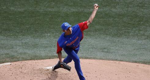 Ulfrido Garcia abrió por Granma pero salió sin decisión ante los Criollos en la Serie del Caribe. LA PRENSA/AFP/ULISES RUIZ