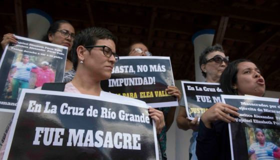 masacre del ejército, La Cruz de Río Grande, Ejército de Nicaragua
