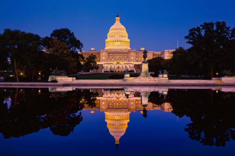 El Capitolio de Washington DC, sede del Poder Legislativo de Estados Unidos. LA PRENSA / Getty Images.