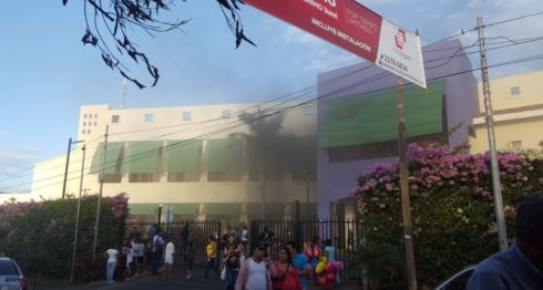 incendios, centro comercial
