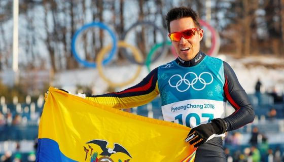El ecuatoriano Klaus Jungbluth puso en el mapa de los Juegos Olímpicos de Invierno a su país. LA PRENSA/EFE/EPA/DIEGO AZUBEL
