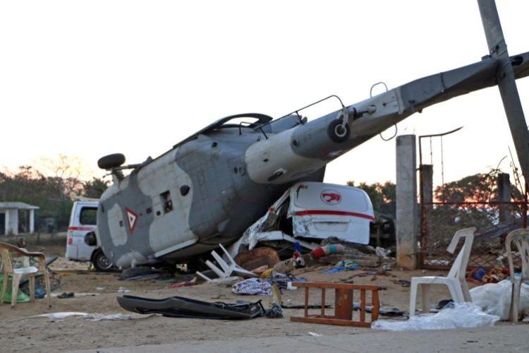 Resultado de imagen para van 13 muertos helicoptero