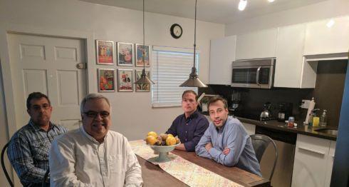 En enero pasado, los periodistas venezolanos que son perseguidos por el régimen venezolano en Miami, Florida, Estados Unidos.
