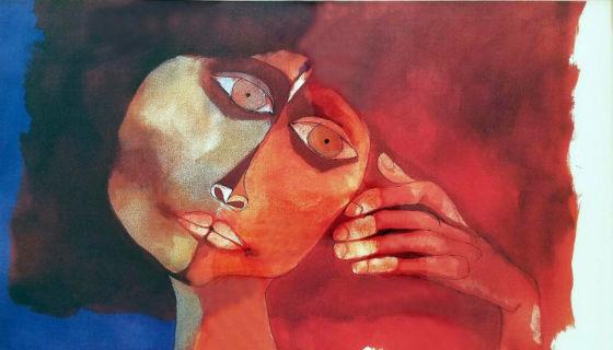 Mujer. Litografía del pintor ecuatoriano Oswaldo Guayasamín. LA PRENSA/Cortesía