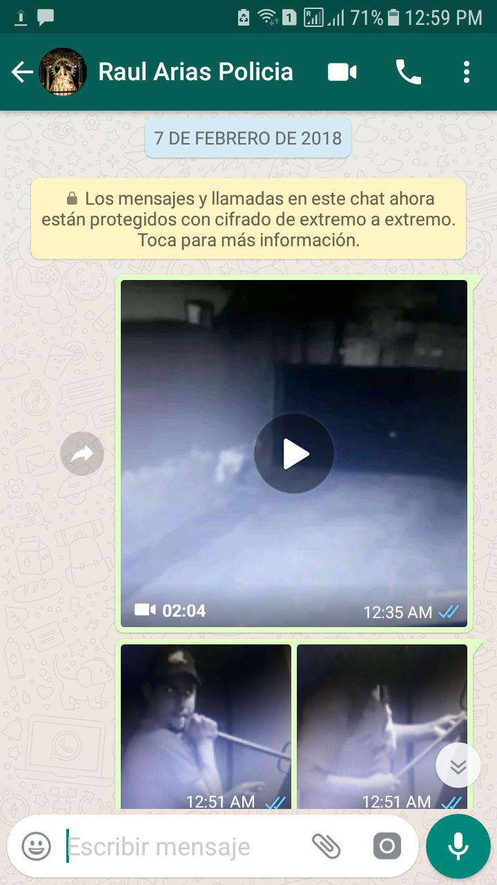 Estas capturas de pantalla evidencian que la Policía tenía información sobre el ladrón. LA PRENSA / Cortesía