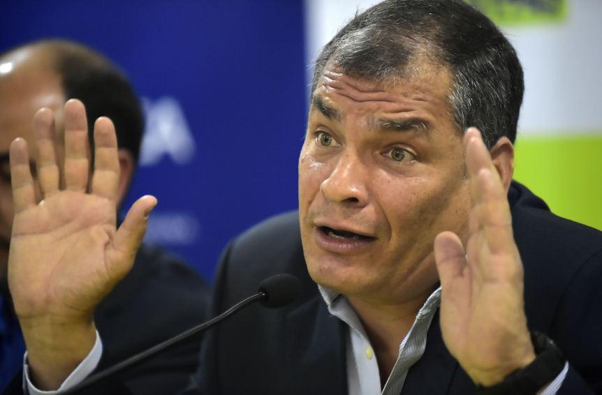 Rafael Correa, expresidente de Ecuador. LA PRENSA/ AFP/Rodrigo Buendia