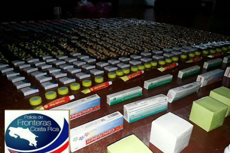 medicamentos nicaragüenses de contrabando, Costa Rica