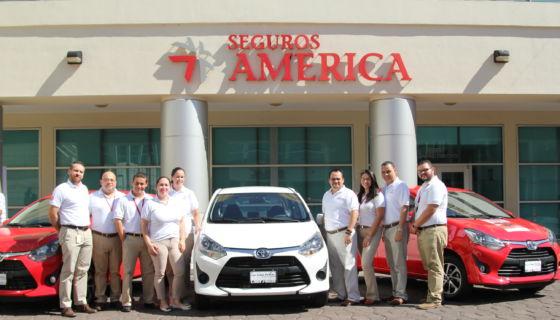 Seguros América, vehículos, póliza, seguros de vehículos, rifa, promoción, Toyota Agya