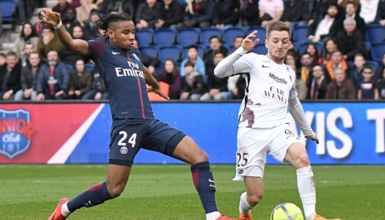 Cristopher Nkunku anotó dos goles en el triunfo del París Saint-Germain. LA PRENSA/EFE/CRISTOPHE PETIT