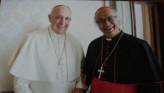 Papa Francisco junto al cardenal Leopoldo Brenes.