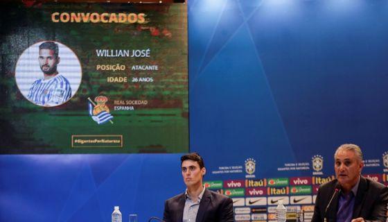 Tite incluyó en su convocatoria al Willian José, delantero de la Real Sociedad de España. LA PRENSA/EFE/ Antonio Lacerda
