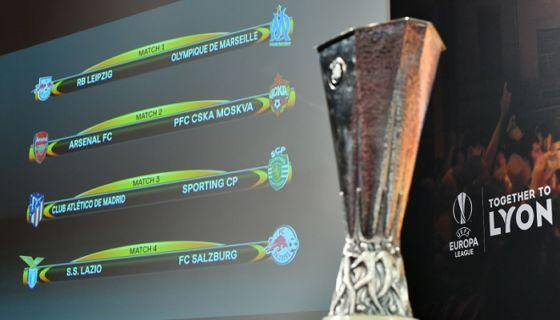 El Atlético de Madrid es hasta ahora el favorito para ganar la Europa League. LA PRENSA/AFP/Fabrice COFFRINI