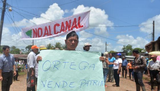 Marcha, movimiento campesino. anticanal, canal interoceánico, Ley 840