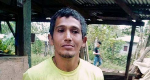 Milciades Hernández, capturado y trasladado a la estación policial por el delito de estafa. LA PRENSA/Cortesía