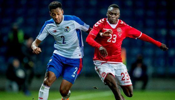 Pione Sisto (23) anotó el gol con el que Dinamarca derrotó a Panamá, en el amistoso realizado este jueves en Copenhague. LA PRENSA/AFP/Ritzau Scanpix
