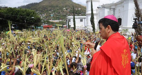 Monseñor Rolando Álvarez, Domingo de Ramos, Semana Santa