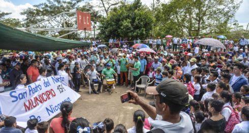 Los habitantes de la comunidad de San Pedro del Norte, en el Caribe Sur, marcharon el jueves pidiendo a los diputados que eleven la comarca a municipio, una iniciativa que ya ha sido introducida ante la Asamblea Nacional.