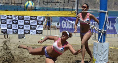 Lolette Rodríguez y Swan Mendoza ganaron su séptima corona del Tour Nacional de Voleibol de Playa. LA PRENSA/CARLOS MONTEALTO