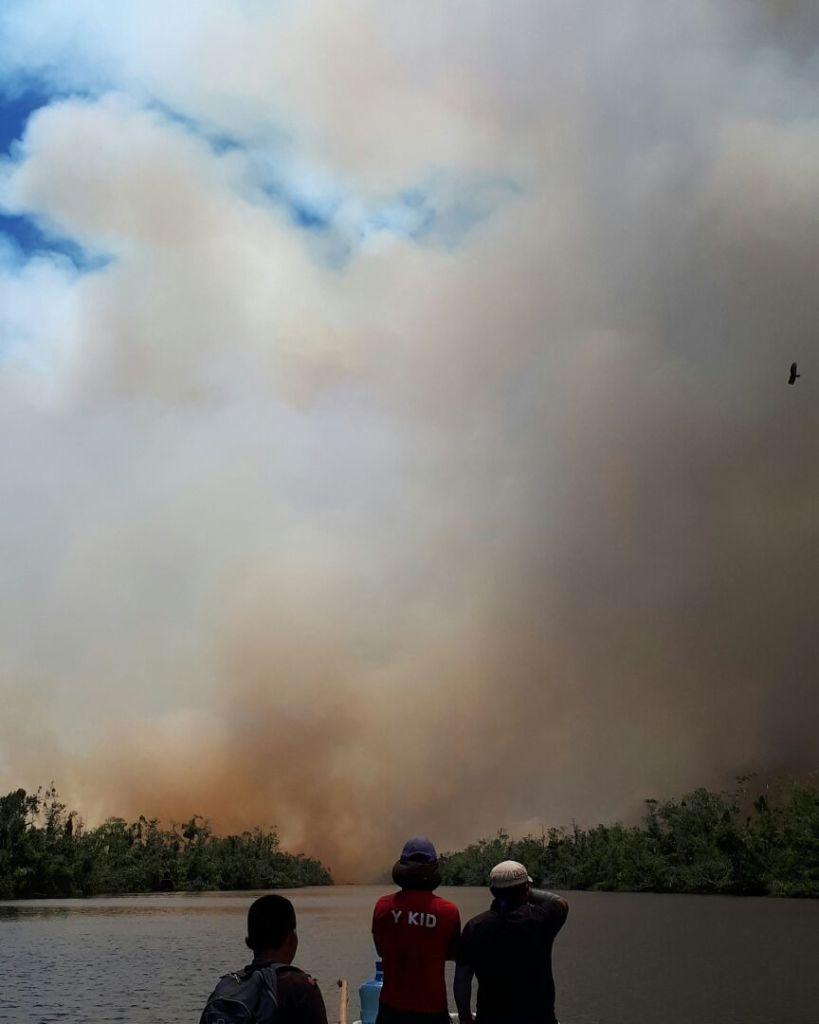 incendio en indio Maíz, Incendio en la reserva indio maís, Indio Maíz