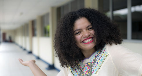 Ceshia Ubau, cantante y compositora Nicaragüense en el Ping Pong de la revista Domingo. Oscar Navarrete/ LA PRENSA.